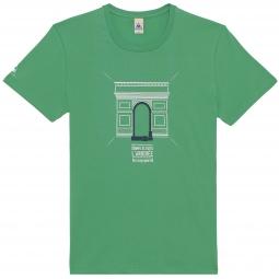Le coq sportif t shirt tour de france arc de triomphe vert s