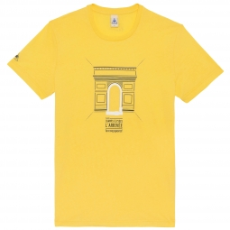 LE COQ SPORTIF 2014 T-Shirt Tour de France Arc de Triomphe Yellow