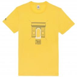 LE COQ SPORTIF T-Shirt Tour de France Arc de Triomphe Jaune