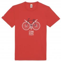 Le coq sportif t shirt tour de france n 13 leeds le grand depart rouge xs