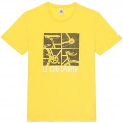 le coq sportif t shirt tour de france n 12 jaune l