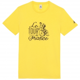 Le coq sportif t shirt tour de france n 10 jaune xl