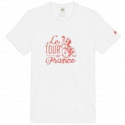 le coq sportif t shirt tour de france n 10 blanc xl