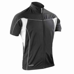 Spiro maillot velo cycliste homme s188m noir full zip s