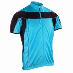 Spiroespacemaillot velo cycliste homme s188m bleu full zip