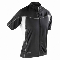 Spiroespacemaillot velo cycliste femme s188f noir full zip
