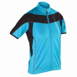 Spiroespacemaillot velo cycliste femme s188f bleu full zip