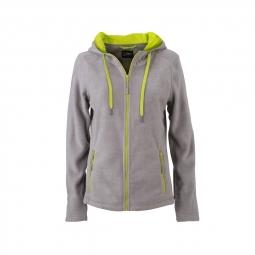 James et nicholson veste polaire zippee capuche contrastee femme jn997 gris acier m