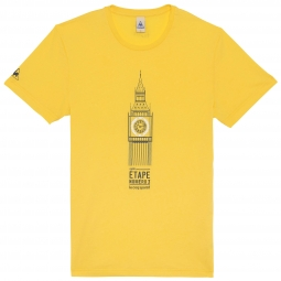 le coq sportif t shirt tour de france big ben jaune l