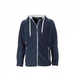 James et nicholsonveste polaire zippee capuche contrastee homme jn998 bleu marine xx