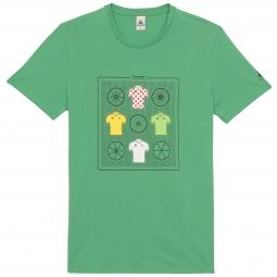 LE COQ SPORTIF T-Shirt Tour de France N°11 Vert