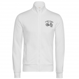 le coq sportif sweat zippe tour de france blanc xl