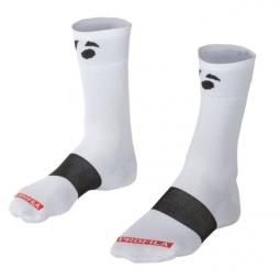 bontrager chaussettes race bontrager logo 13cm blanc 43 45