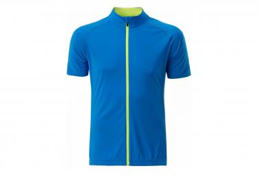 James et Nicholson maillot cycliste zippé - HOMME - JN516 - bleu vif