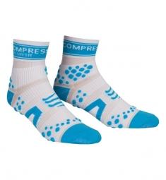 COMPRESSPORT paire de chaussettes RACING SOCKS V2 Bleu