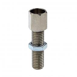 Vis de reglable en laiton nickele pour frein de velo