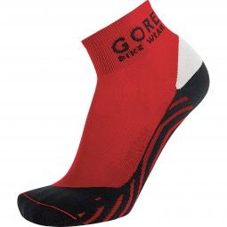 gore bike wear paire de chaussettes contest rouge noir 44 46