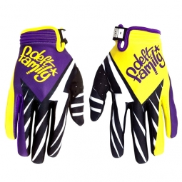 DEFT FAMILY Paire de Gants CATALYST 3 BOLT Violet Jaune