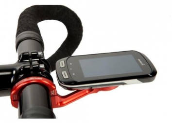 K-EDGE Support guidon long pour Garmin Edge 1000 Rouge