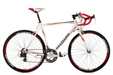 Velo de route ks cycling euphoria blanc 55 cm 170 185 cm