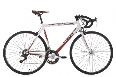 Velo de route ks cycling piccadilly blanc 59 cm 180 190 cm