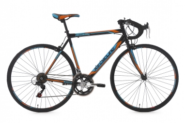 Velo de route ks cycling piccadilly noir orange bleu 56 cm 170 180 cm