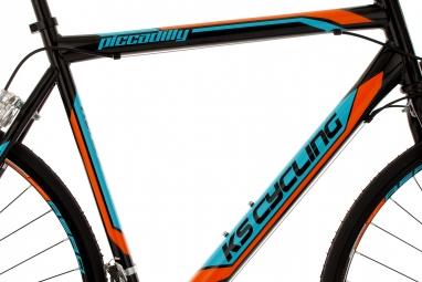 Vélo de Route KS Cycling Piccadilly Noir Orange Bleu