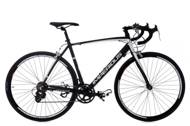 Velo de route ks cycling imperious noir blanc 56 cm 170 180 cm