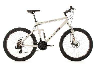 Vtt tout suspendu ks cycling insomnia 26 shimano tourney 7v blanc 50 cm 157 170 cm