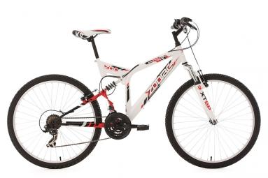 Vtt tout suspendu ks cycling zodiac 26 shimano tourney 7v blanc 46 cm 170 180 cm