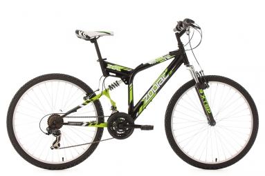 Vtt tout suspendu ks cycling zodiac 26 shimano tourney 7v noir 48 cm 167 176 cm