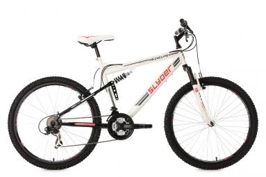 Vtt tout suspendu ks cycling slyder 26 shimano tourney 7v blanc 51 cm 165 180 cm