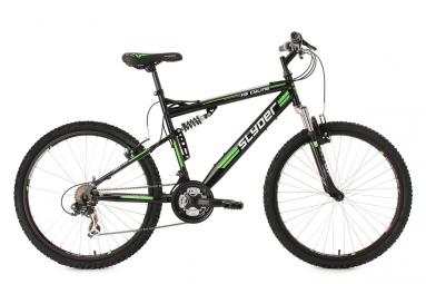 Vtt tout suspendu ks cycling slyder 26 shimano tourney 7v noir 51 cm 165 180 cm