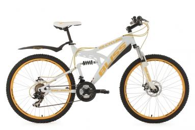 Vtt tout suspendu ks cycling bliss 26 shimano tourney 7v blanc 47 cm 166 174 cm