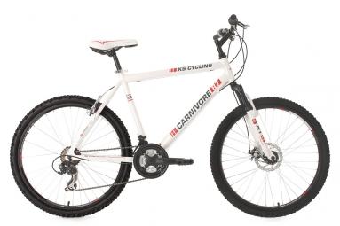 Vtt semi rigide ks cycling carnivore 26 shimano tourney 7v blanc 52 cm 168 178 cm