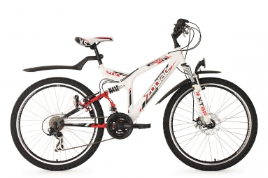 Vtt tout suspendu ks cycling zodiac 26 shimano tourney 7v blanc 48 cm 167 176 cm