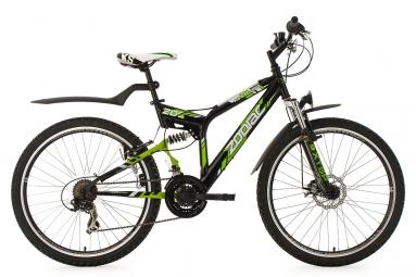 Vtt tout suspendu ks cycling zodiac 26 shimano tourney 7v noir 46 cm 160 175 cm