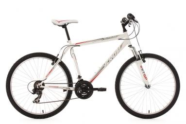Vtt semi rigide ks cycling icros 26 shimano tourney 7v blanc rouge 51 cm 165 180 cm