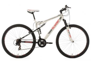 Vtt tout suspendu ks cycling slyder 29 shimano tourney 7v blanc 51 cm 172 185 cm