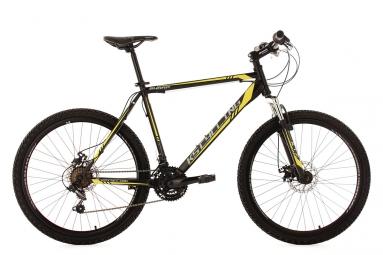 Vtt semi rigide ks cycling sharp 26 shimano tourney 7v noir jaune 51 cm 165 180 cm