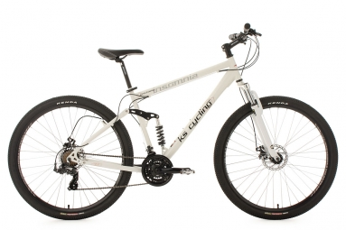 Vtt tout suspendu ks cycling insomnia 29 shimano tourney 7v blanc 51 cm 172 180 cm