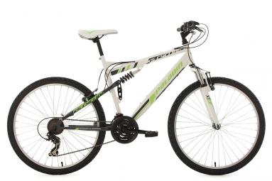 Vtt tout suspendu ks cycling paladin 26 shimano tourney 7v blanc vert 51 cm 165 180