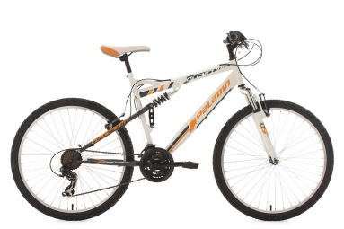Vtt tout suspendu ks cycling paladin 26 shimano tourney 7v blanc orange 51 cm 165 18