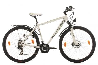 Vtt semi rigide ks cycling heist 29 shimano tourney 7v blanc 51 cm 165 180 cm