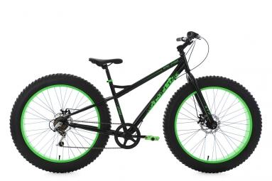 Vtt fatbike 26 semi rigide snw2458 noir vert tc 43 cm ks cycling 43 cm 150 162 cm