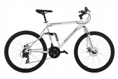 Vtt tout suspendu ks cycling triptychon 26 shimano tourney 7v blanc 51 cm 165 180 cm
