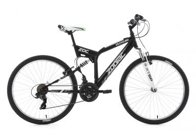 Vtt tout suspendu ks cycling zodiac 26 shimano tourney 7v noir blanc 48 cm 167 176 cm