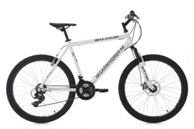 Vtt semi rigide ks cycling carnivore 26 shimano tourney 7v blanc gris 51 cm 165 180