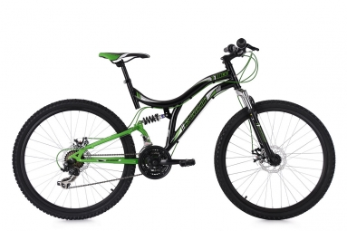 Vtt tout suspendu ks cycling nice 26 shimano tourney 7v noir vert 48 cm 167 176 cm
