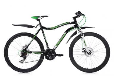 Vtt semi rigide 26 phalanx 21 vitesses noir vert blanc ks cycling 51 cm 165 170 cm